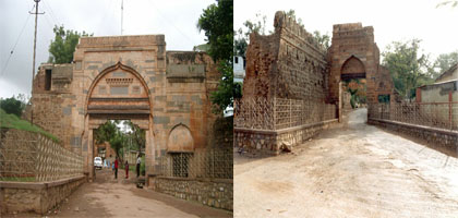 Two fort gates