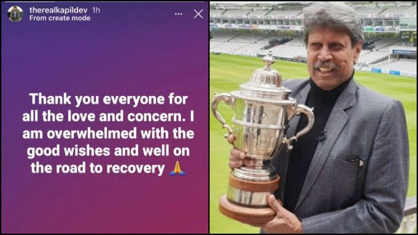 Kapil Dev says 'on road to recovery' after heart attack, overwhelmed with good wishes