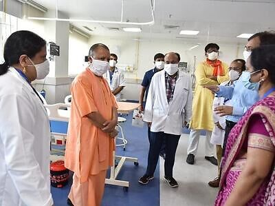 Noida gets 400-bed Covid-19 hospital, CM Yogi Adityanath reviews facilities