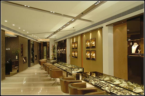 V n jewellers pune in jewellery diamonds get address for Jewellery showroom interior design images